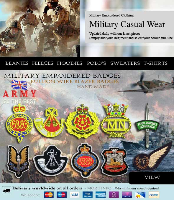 Military Embroidery - Military Embroidered Clothing - Army T