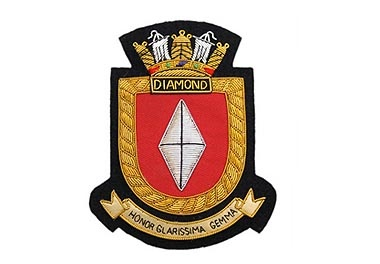 HMS Diamond Bullion Wire Blazer Badge
