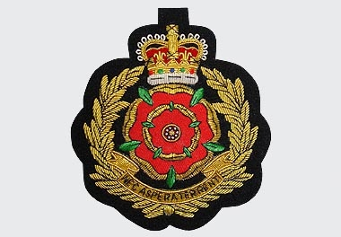 Nec Aspera Terrent Bullion Wire Blazer Badge