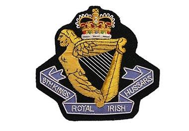 8th King's Royal Irish Huss Bullion Wire Blazer Badge