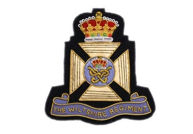 Wiltshire Regiment Bullion Wire Blazer Badge