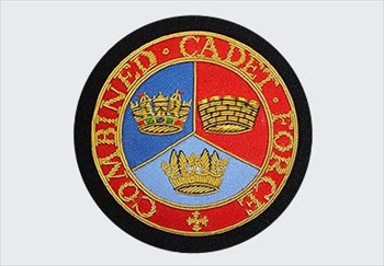 Combined-Cadet-Forces Bullion Blazer Wire Badge